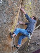 Rock Climbing Photo: Not all of the cracks are fat - there are some thi...
