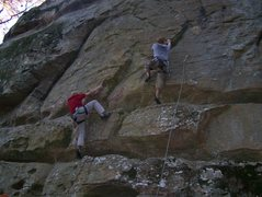 Rock Climbing Photo: Brothers Eric and Matt Miller racing up routes (To...