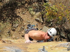 Rock Climbing Photo: AB on Commodus
