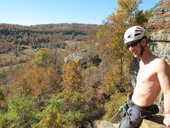 Rock Climbing Photo: AB soaking up the sun and the views at HCR