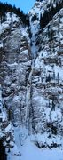 Rock Climbing Photo: Ribbon on evening of 1/15/2011 with climbers.  Ful...