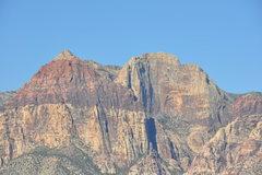Rock Climbing Photo: The beautiful, sheer Rainbow Wall on the right