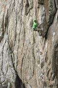 Rock Climbing Photo: Scott Bennett making good progress on his first at...