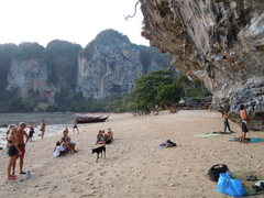 Rock Climbing Photo: The audience at the Tonsai Wall