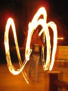 Rock Climbing Photo: yo yo yo, come to the fire show!!