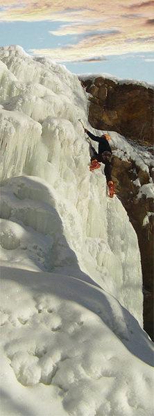 Climbing Minnescott Falls
