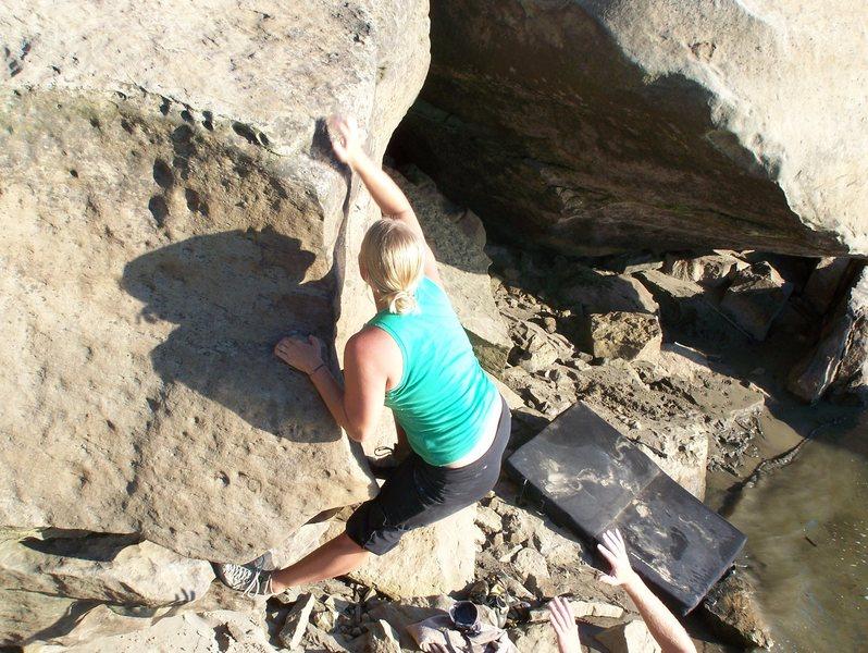 Rock Climbing Photo: Shelby climbing a fun shorty