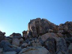 Rock Climbing Photo: Approaching the route.