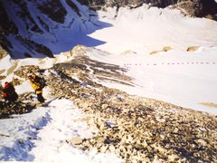 Rock Climbing Photo: On Athabasca close to summit ridge trail leads to ...