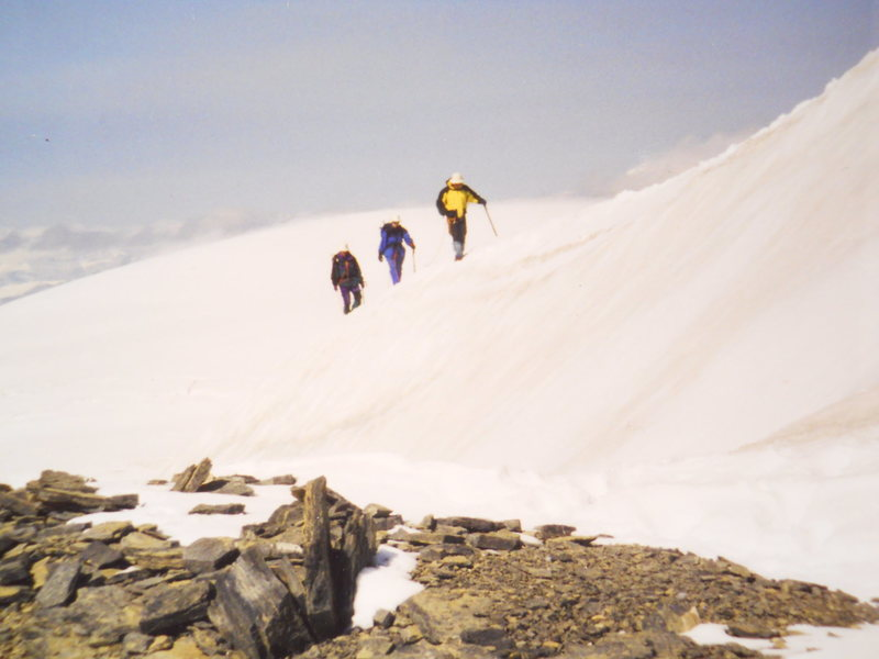 Rock Climbing Photo: Athabasca Summit Ridge Snow Dome behind obscures k...