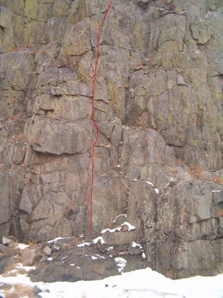 Pitch 1 belay not in frame.