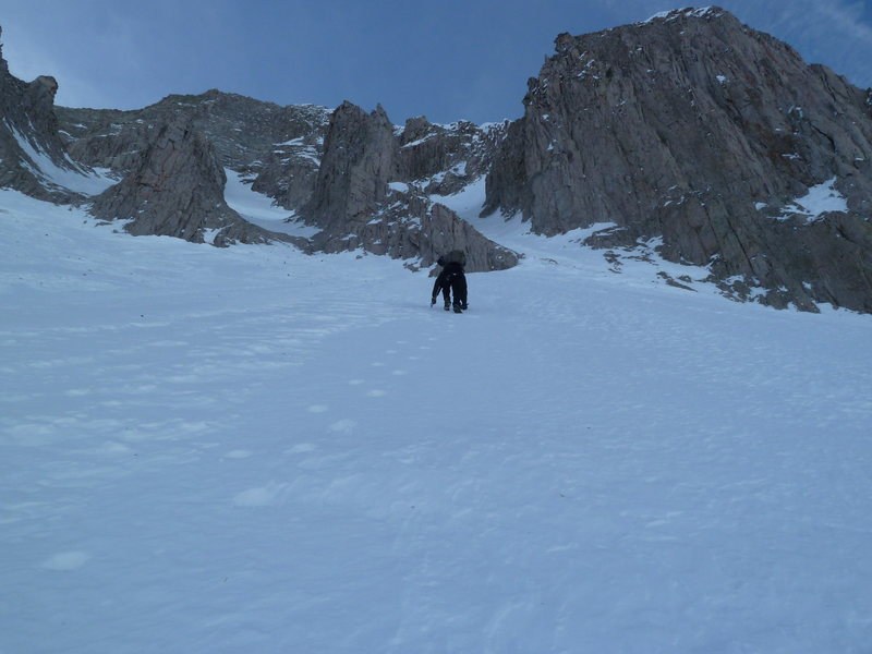Rock Climbing Photo: The base of the couloir.