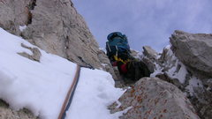 Rock Climbing Photo: The short rock section.  This short 25' section in...