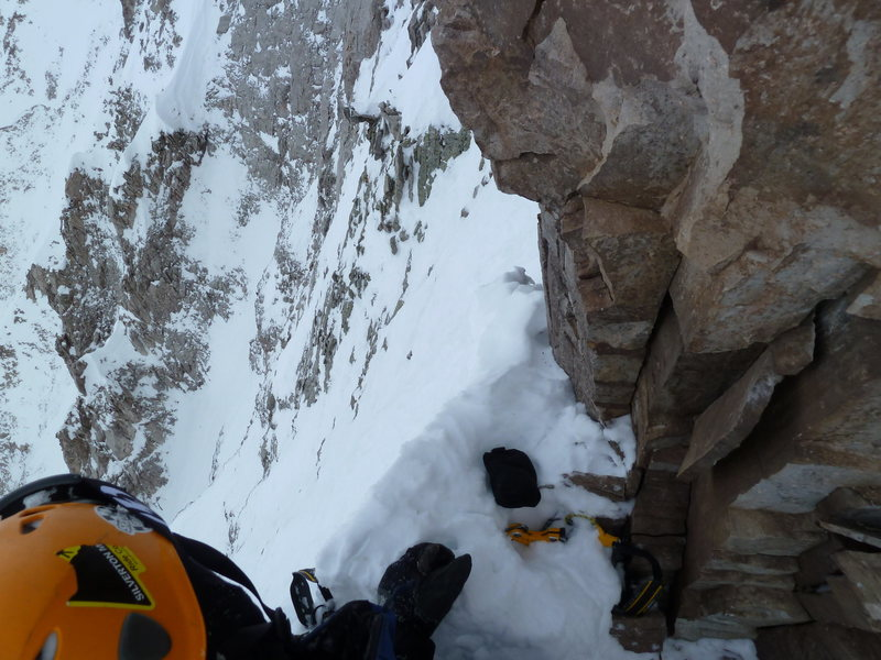 Rock Climbing Photo: Our high point.  We climbed up into a keyhole thin...