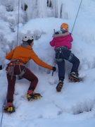 Rock Climbing Photo: Araceli's first ice climb - age 9.  kids wall.  Ou...