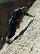 "Rock Climbing Photo: Mike following on ""Jo' Bubba"" 5.10 a.  S..."