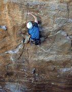 Rock Climbing Photo: Dan on Armed Robbery