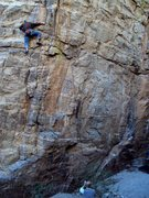 Rock Climbing Photo: Dave on Solitary Refinement