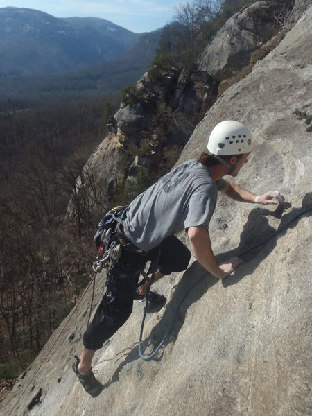 Rock Climbing Photo: Ryan Holmes on the 2nd pitch of Trophy Wife