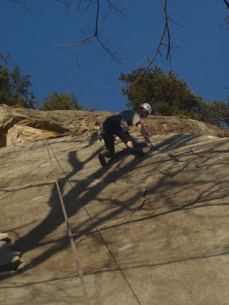 Rock Climbing Photo: Ryan Holmes on Name Unknown 5.11b