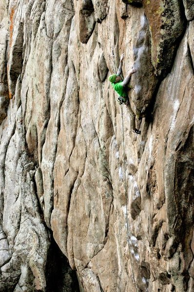 "Rock Climbing Photo: Scott Bennett slaps the ""egg"" on Vasodil..."