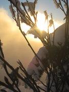 Rock Climbing Photo: Beautiful scenery with friend skiing through the s...