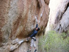 Rock Climbing Photo: Bikini Whale start.    Photo posted with consent f...