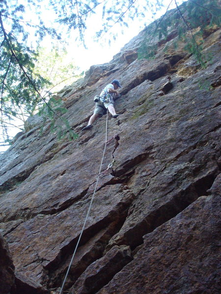Rock Climbing Photo: Phil Ermshar leading Fir Tree Crack 5.6. Photo by ...
