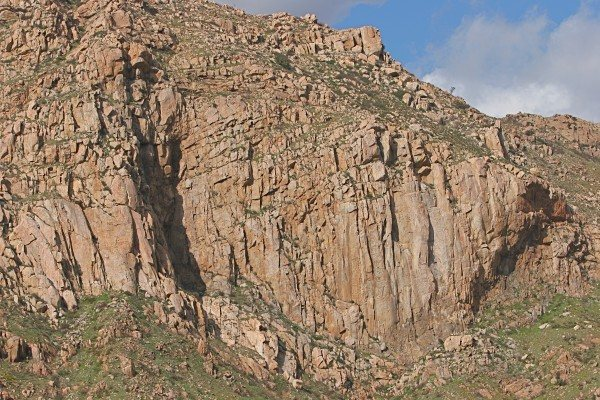 profile of crag.  Credit Kevin Worrall