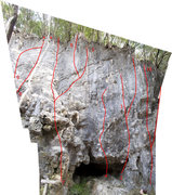 Rock Climbing Photo: This is the C sector of the Bat Wall. Routes are g...