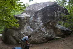 Rock Climbing Photo: Victor boulder.  Chris Sharma did a FA straight up...