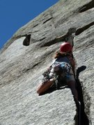Rock Climbing Photo: 3 pitches of offwidth: The highlight was the block...