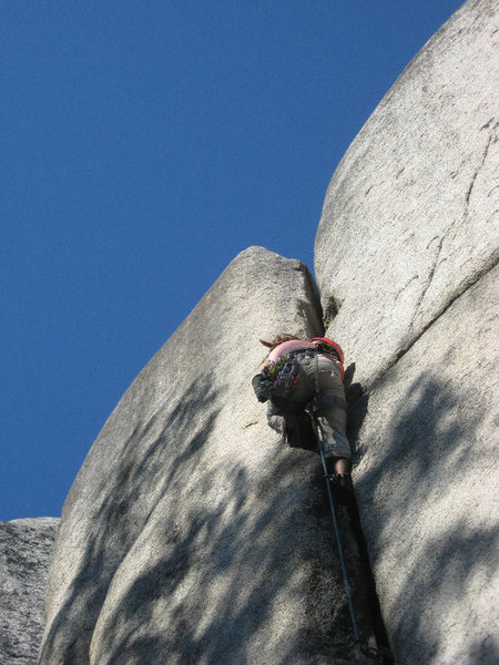 Rock Climbing Photo: split beaver
