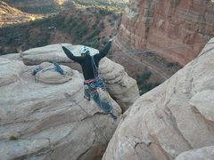 Rock Climbing Photo: Don't forget to absorb the landing!