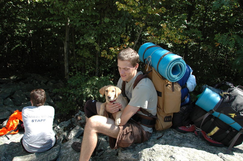Rock Climbing Photo: Augustine whooped on the Appalachian Trail