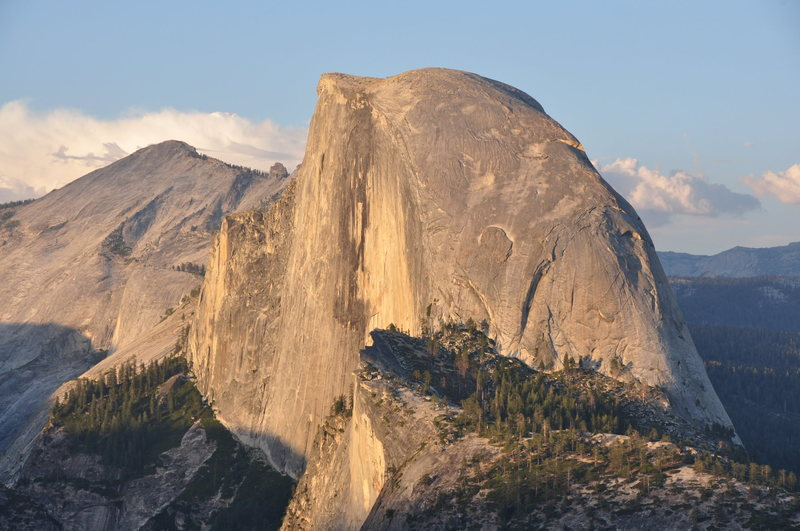Half Dome at sunset from Glacier Point