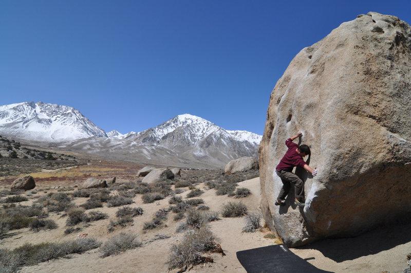 Rock Climbing Photo: Buttermilk Stem (V1)
