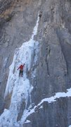 Rock Climbing Photo: First pitch Ames Ice Hose