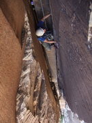 Rock Climbing Photo: Me coming up a chimney on Epinephrine