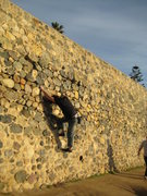 Rock Climbing Photo: traversing the sea wall in La Jolla, CA