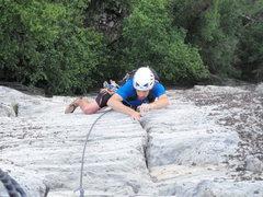 Rock Climbing Photo: BirminghamBen cruising the crux pitch of Dopey!