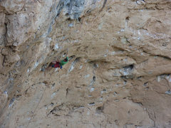 Rock Climbing Photo: Matthew NM moving into the second undercling as op...