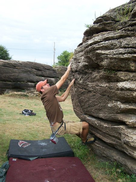 Rock Climbing Photo: Matt stretching his legs at Rock City