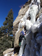 Rock Climbing Photo: New visor, less wind, dregs of ice.