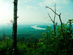 View of Lake Glenville from the trail up to Shortoff.