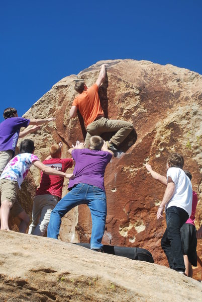 Rock Climbing Photo: Matt Budd on the top out.