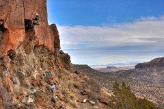 Rock Climbing Photo: Matt on Len's Roof. January 2011.