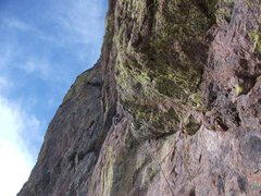 Rock Climbing Photo: higher on pitch two. steve curtis photo.