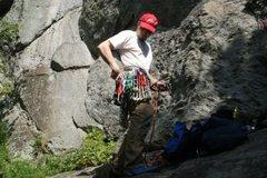 Rock Climbing Photo: racking up