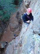 Rock Climbing Photo: Phil Ermshar leading Jamcrack 5.7. Photo by Floyd ...